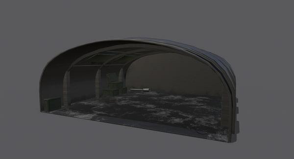 3D airplane hangar ready