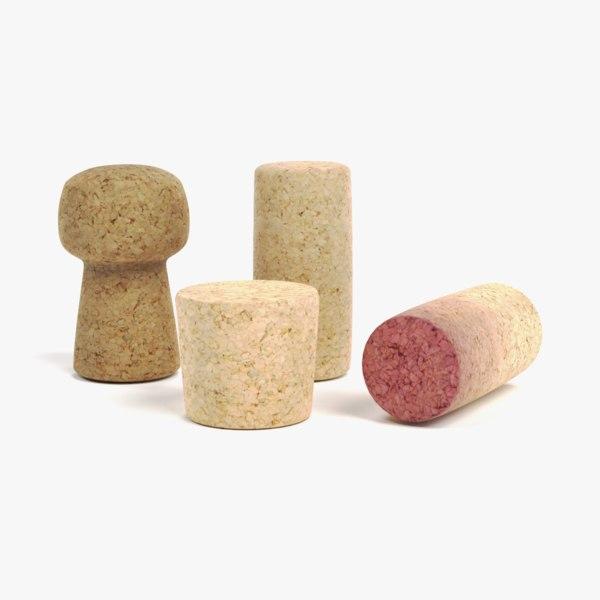 3D corks wine used
