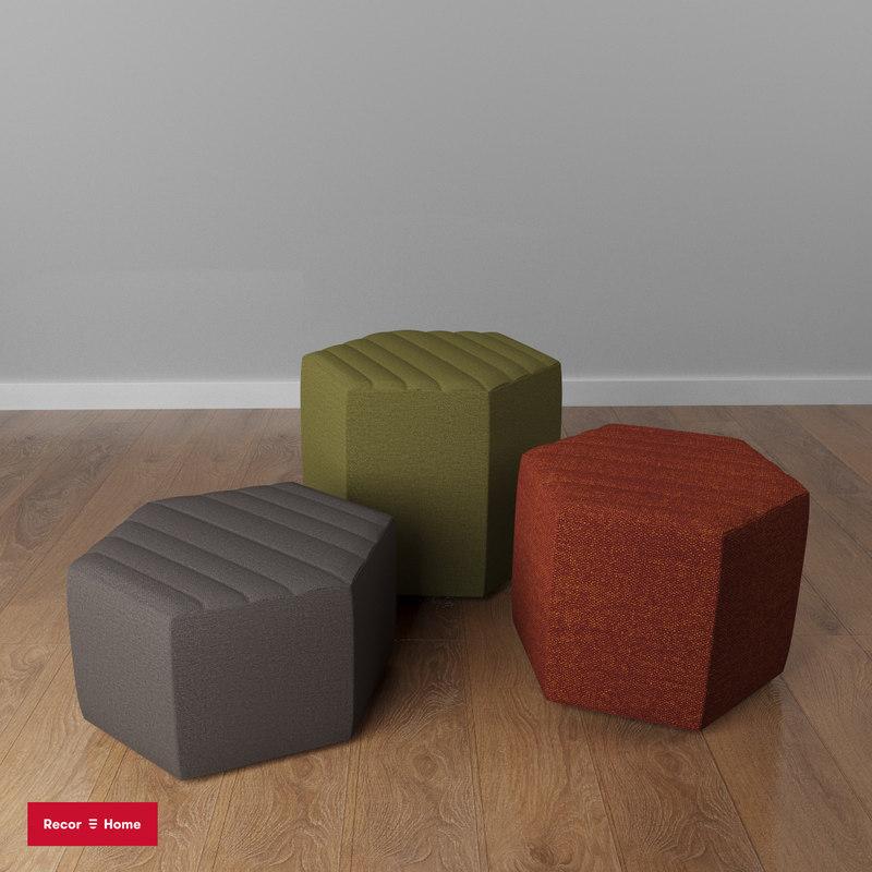 monk pouf recor 3D
