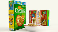 cereal product shot modeled 3D