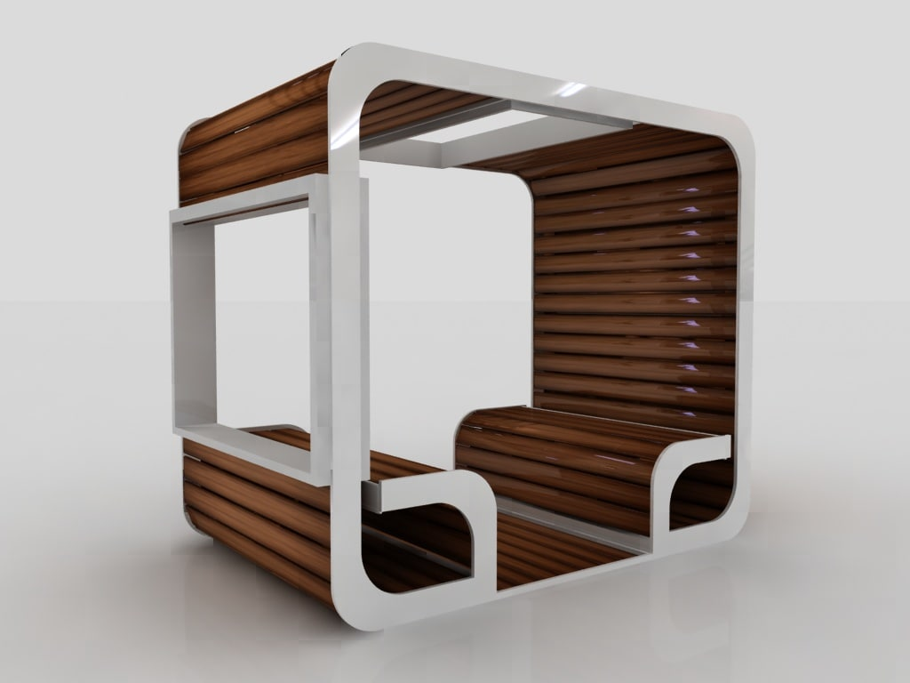 3D model booth