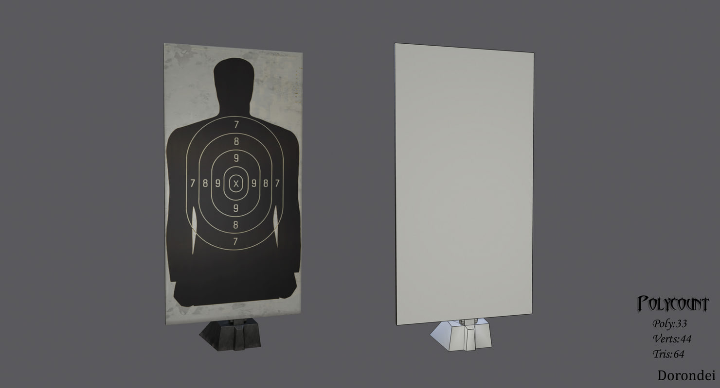 3D military target ready