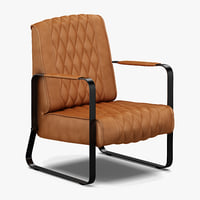 3D eleonora caro vintage lounge chair model