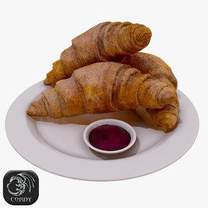 3D croissant jam