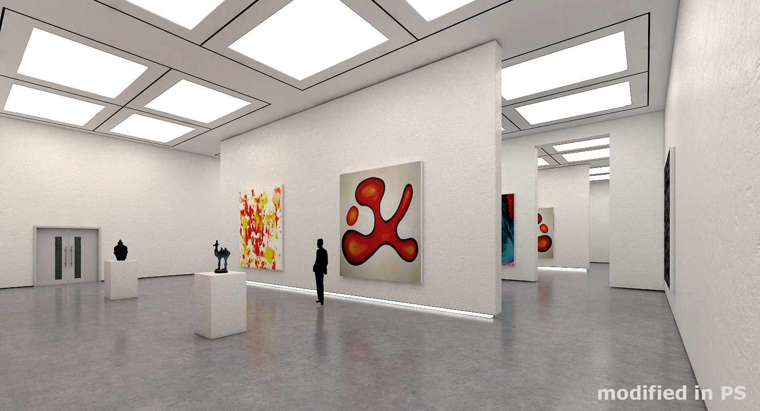art gallery interior 3D