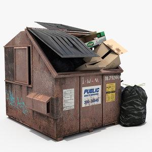 garbage bin bags 3D model
