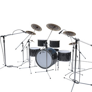 drums drumset music 3D model
