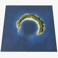 atoll rocks model