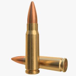 cartridge 7 62x39 3D model