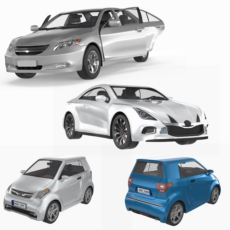 3d model generic car pack