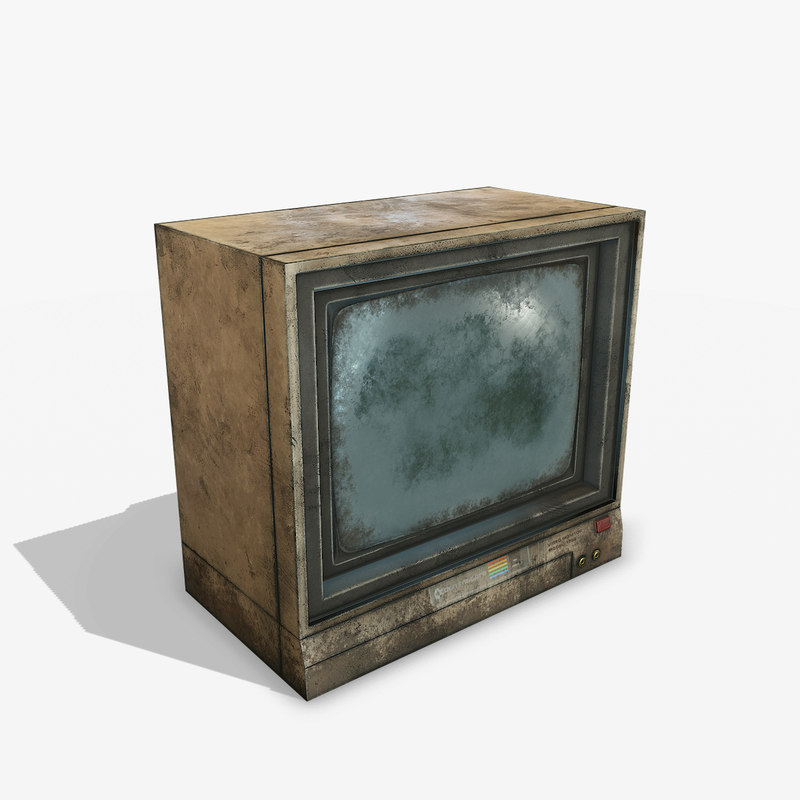 3D old monitor pbr