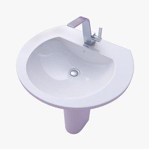 3D duravit darling new washbasin model