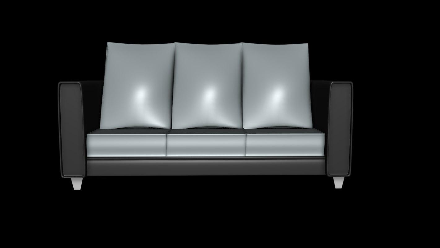 small sofa 3D model