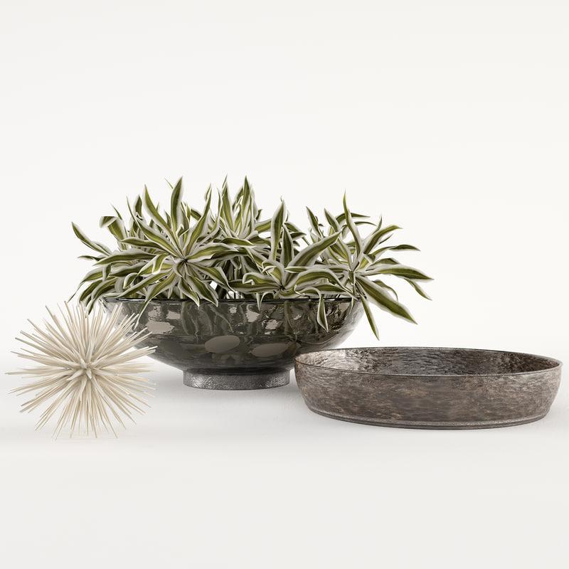 3D model decorative set w3