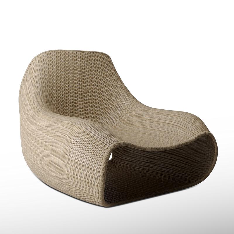 rotan chair 3D