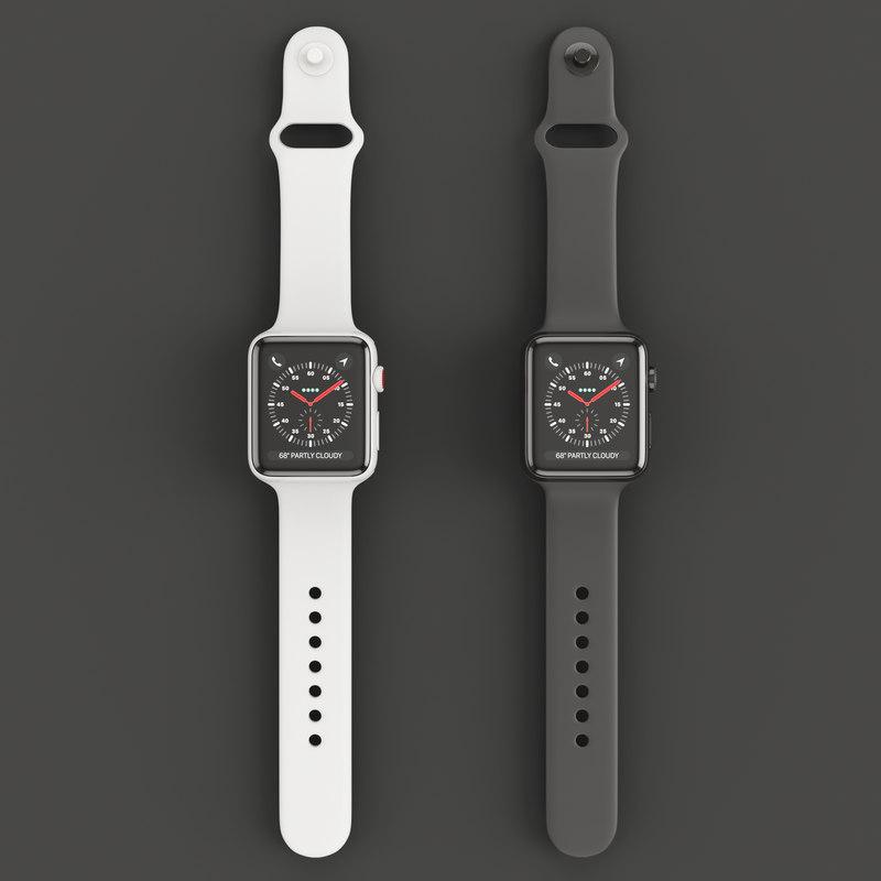 3D apple watch edition series model
