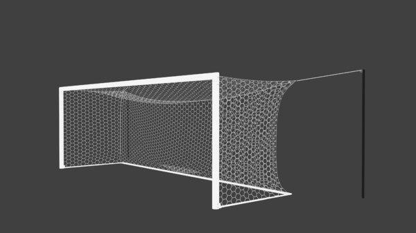 3D hexagon soccer goal