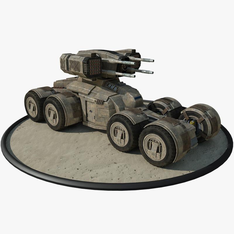 futuristic armored personal 3D