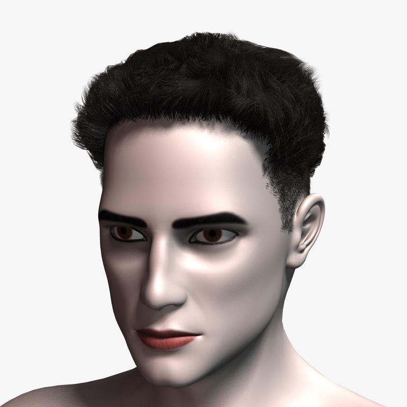 hair cards 5 3D model