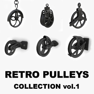 3d model retro pulley s vol 1
