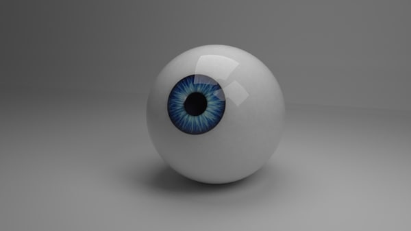 cartoon eye 3D model