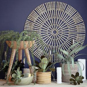plant decor set 3D model
