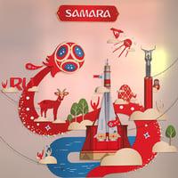 3D model samara russia