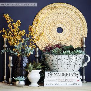 plant decor set model