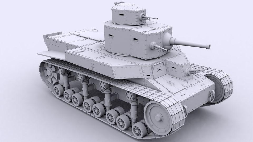 3D model t-24 tank