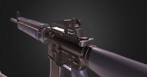 m16a4 rigged 3D