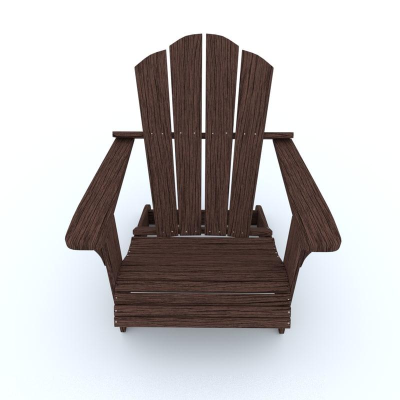 3D adirondack chair model