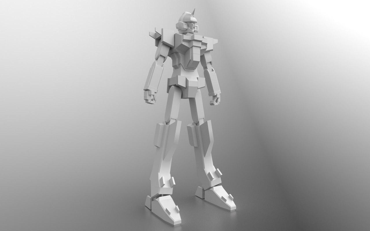 3D model anime mecha