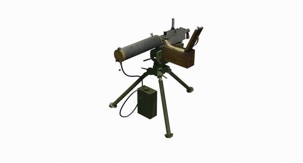 browning machine gun 3D model