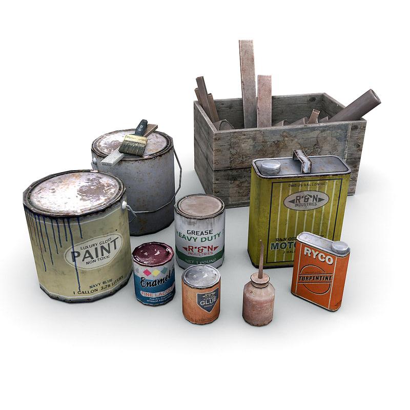 industrial workshop garage 3d model