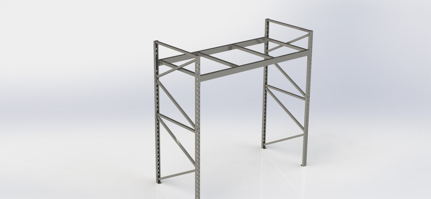 3D pallet rack