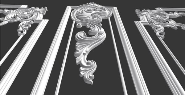 3D model cartouche carved