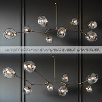 Branching Bubble 8 Lamps Gold By Lindsey Adelman