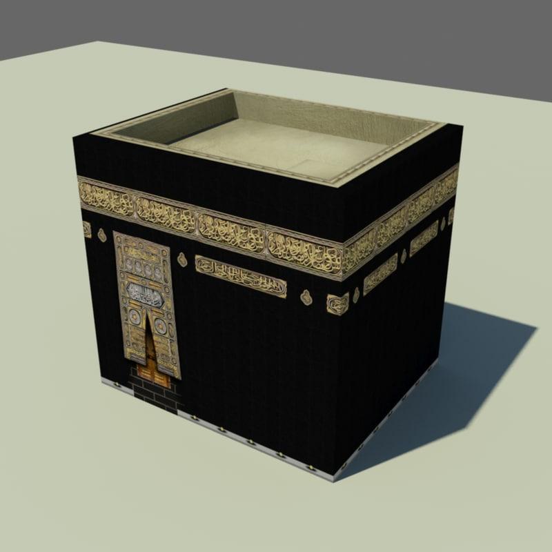3D kaaba black stone