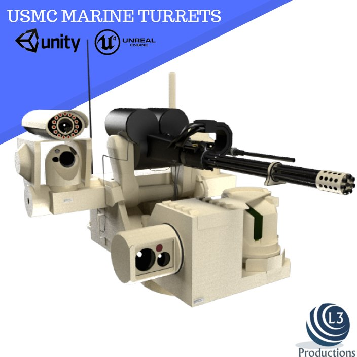 military turrets 3D model