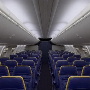 ryanair economy interior section 3D