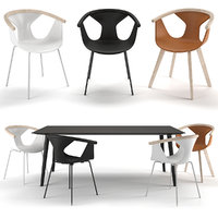 Pedrali Chairs Fox & Table Babila TBA