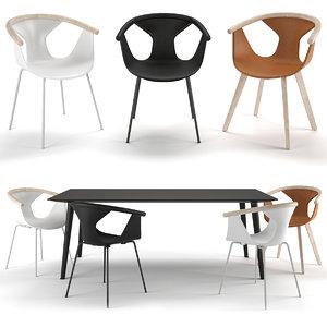 3D chair table babila tba