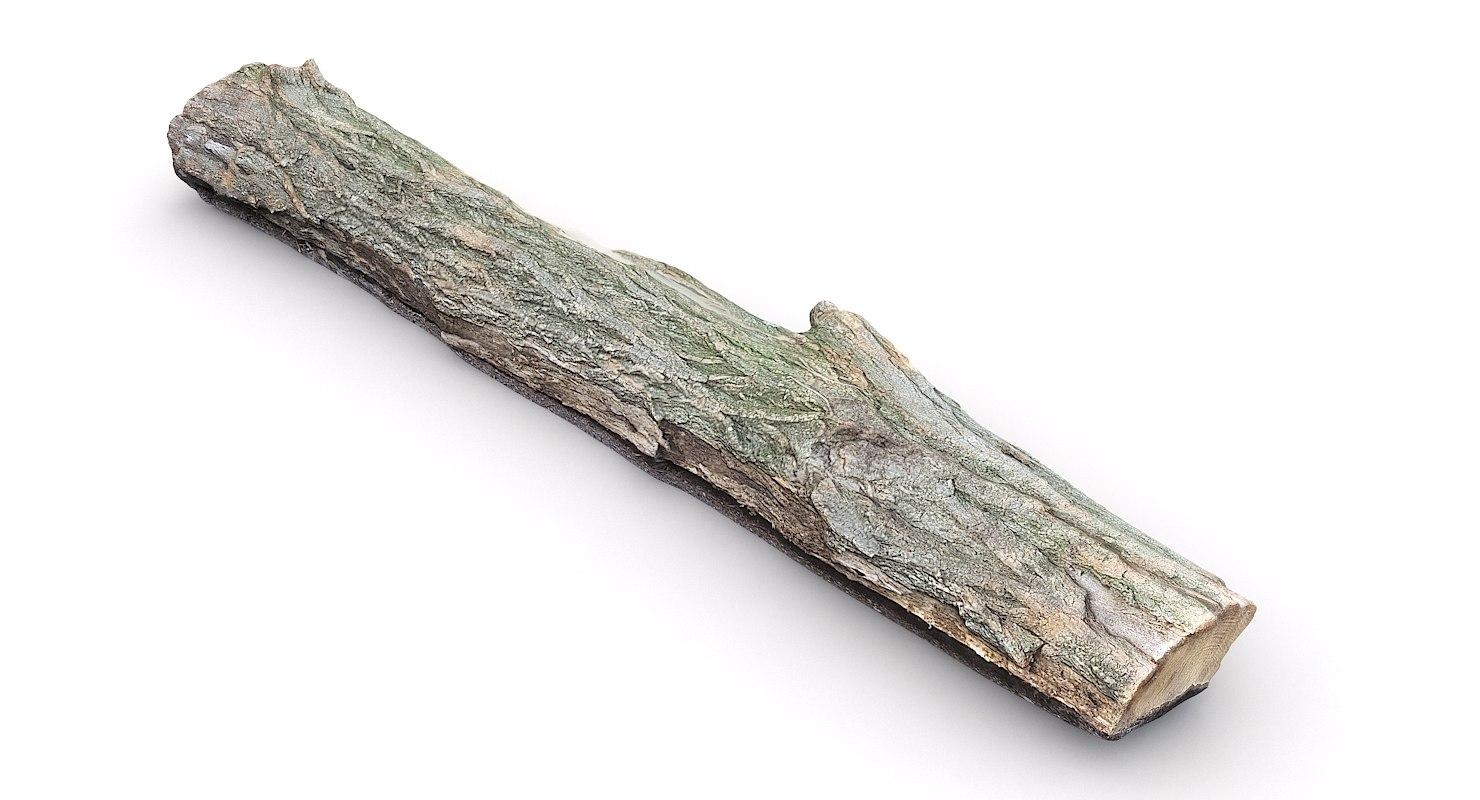 scan wood log 3D