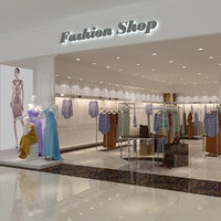 3D fashion boutique model