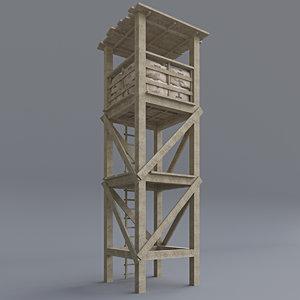 3D model guard tower