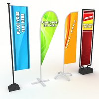 3D flag stand