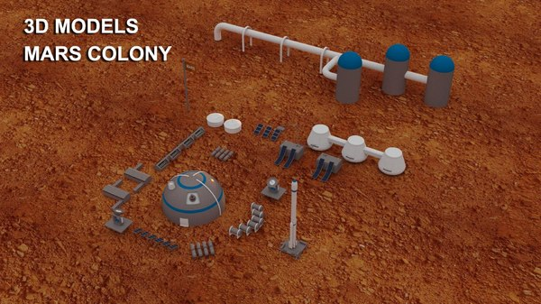 3D mars colony model