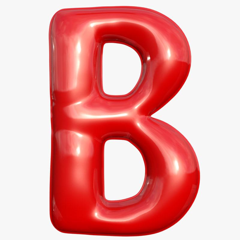 3D foil balloon letter m