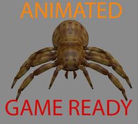 Spider Rigged And Animated
