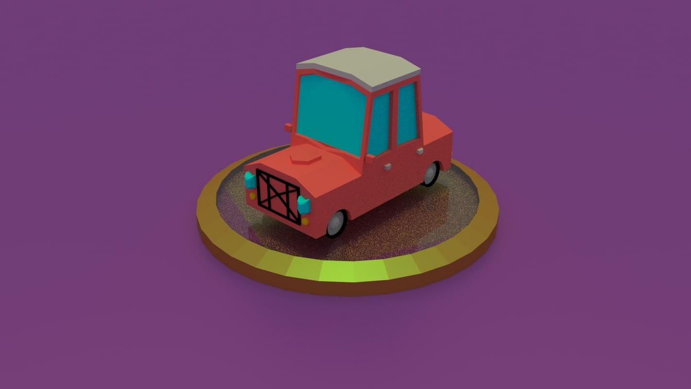 cars render 3D model